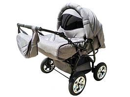 Универсальная детская коляска-трансформер для двойни Trans baby Таурус Duo, с.серый