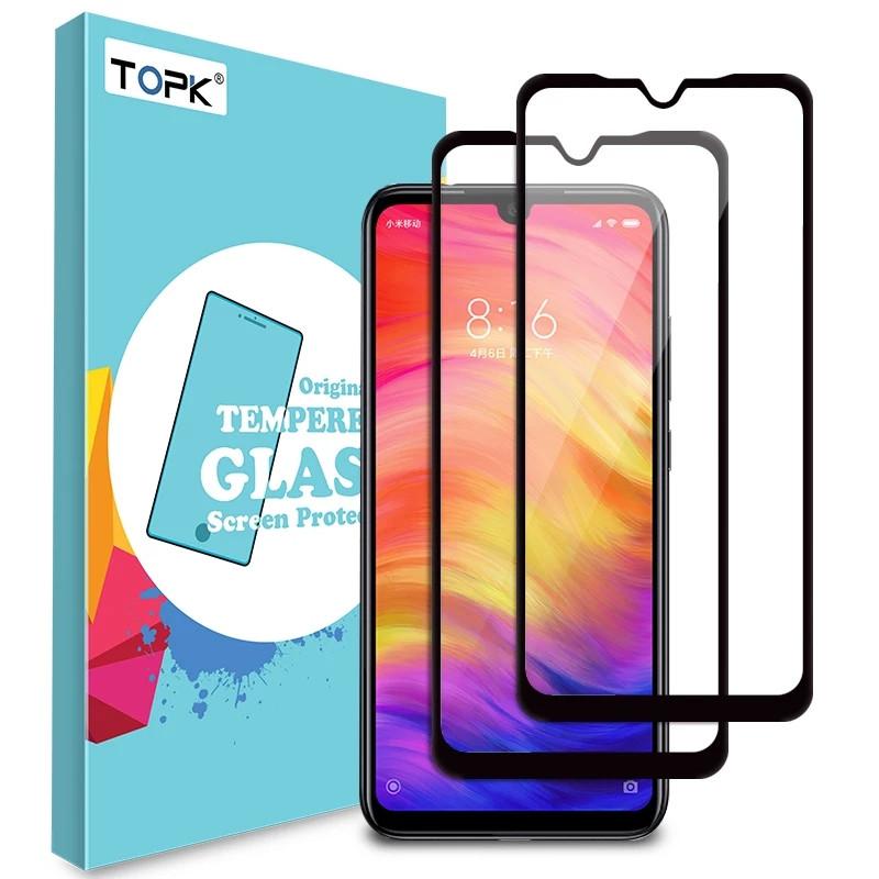Защитное стекло TOPK для смартфона Xiaomi Redmi Note 7 / Note 7 Pro (Full cover) Black