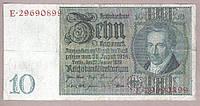 Банкнота Германии 10 марок 1929 г VF