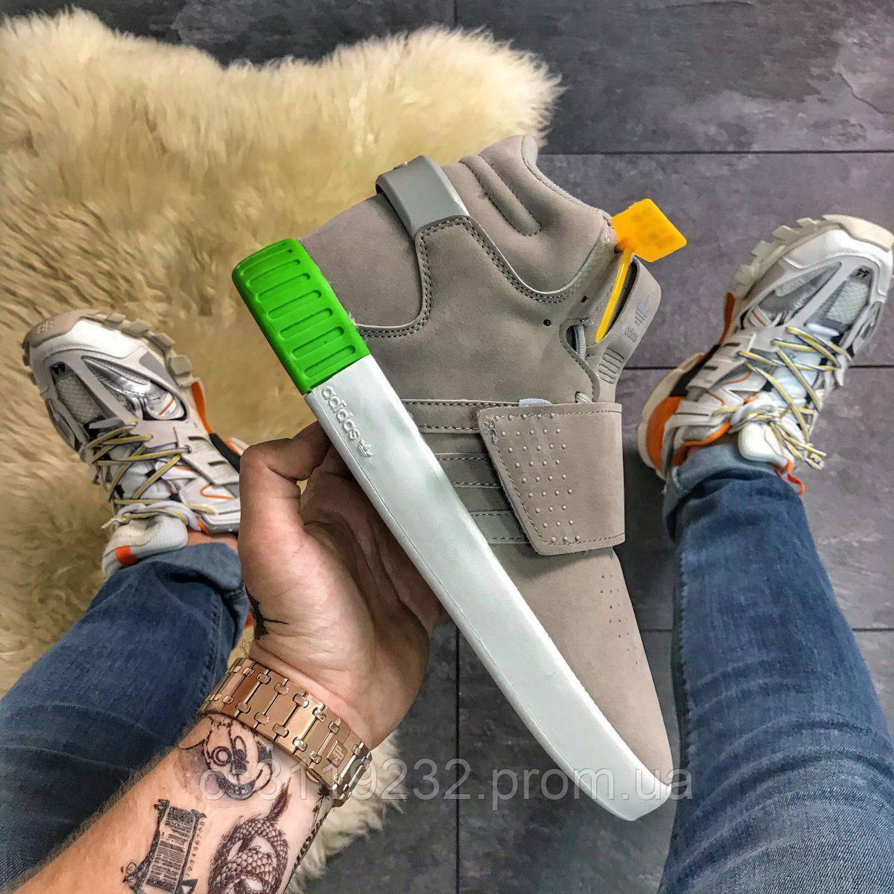 Мужские кроссовки Adidas Tubular (серые)