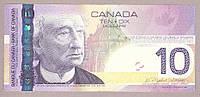 Банкнота Канады 10 долларов 2004 г. VF