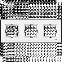 Тройная горизонтальная рамка VIKO Karre Белый