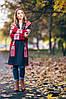 В'язаний жіночий кардиган Ніколь (графіт, білий, червоний), фото 3