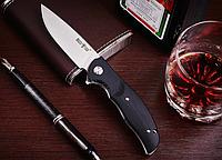 Нож складной, осевой винт с прямым шлицом, с объёмными накладками,лайнеры имеют фразеровки,для различных задач, фото 1