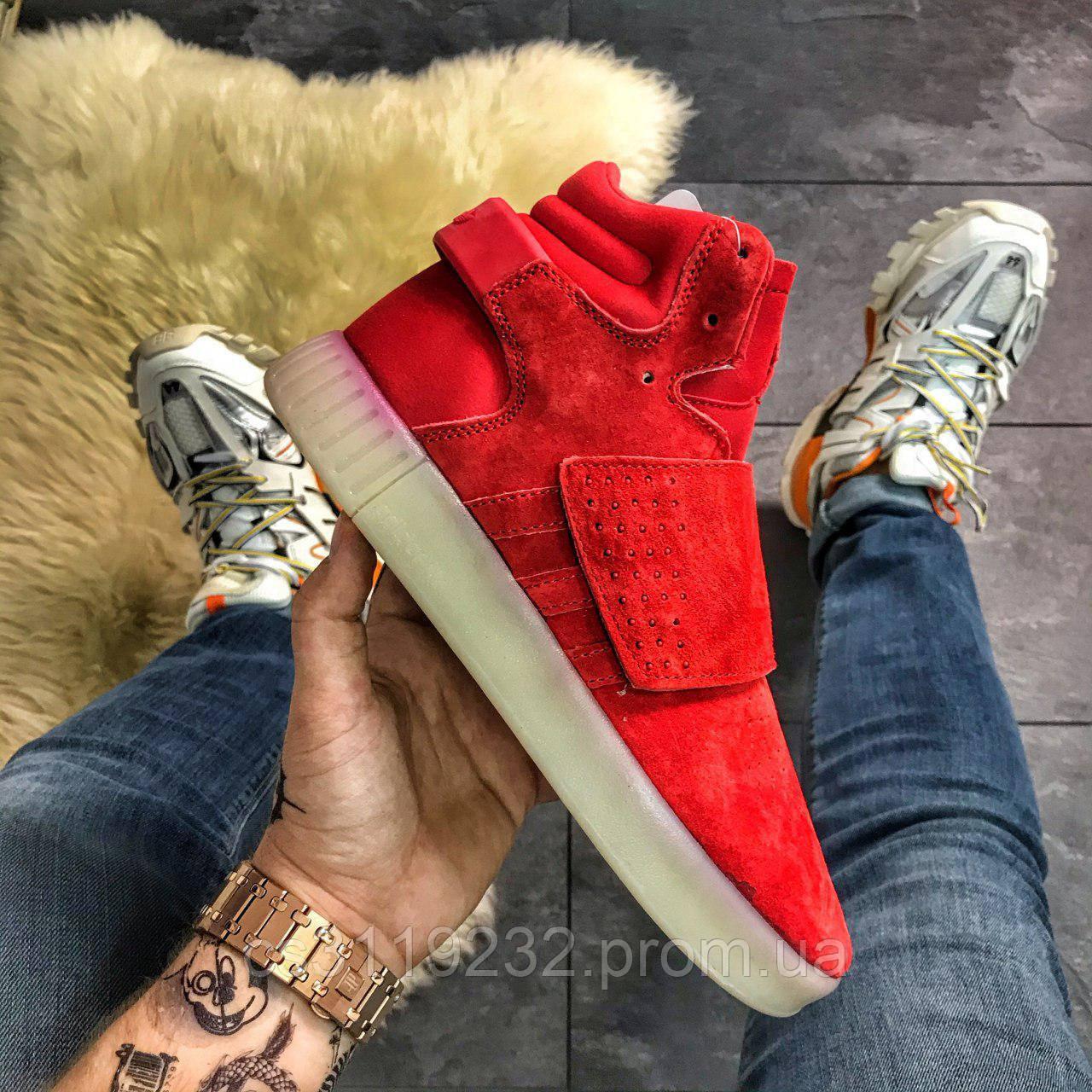 Мужские кроссовки Adidas Tubular (красные)
