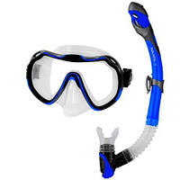 Комплект для дайвинга маска Aquatic Java + трубка Elba Navy