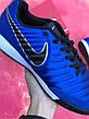 Футзалки Nike Tiempo X футбольная обувь Синие, фото 5