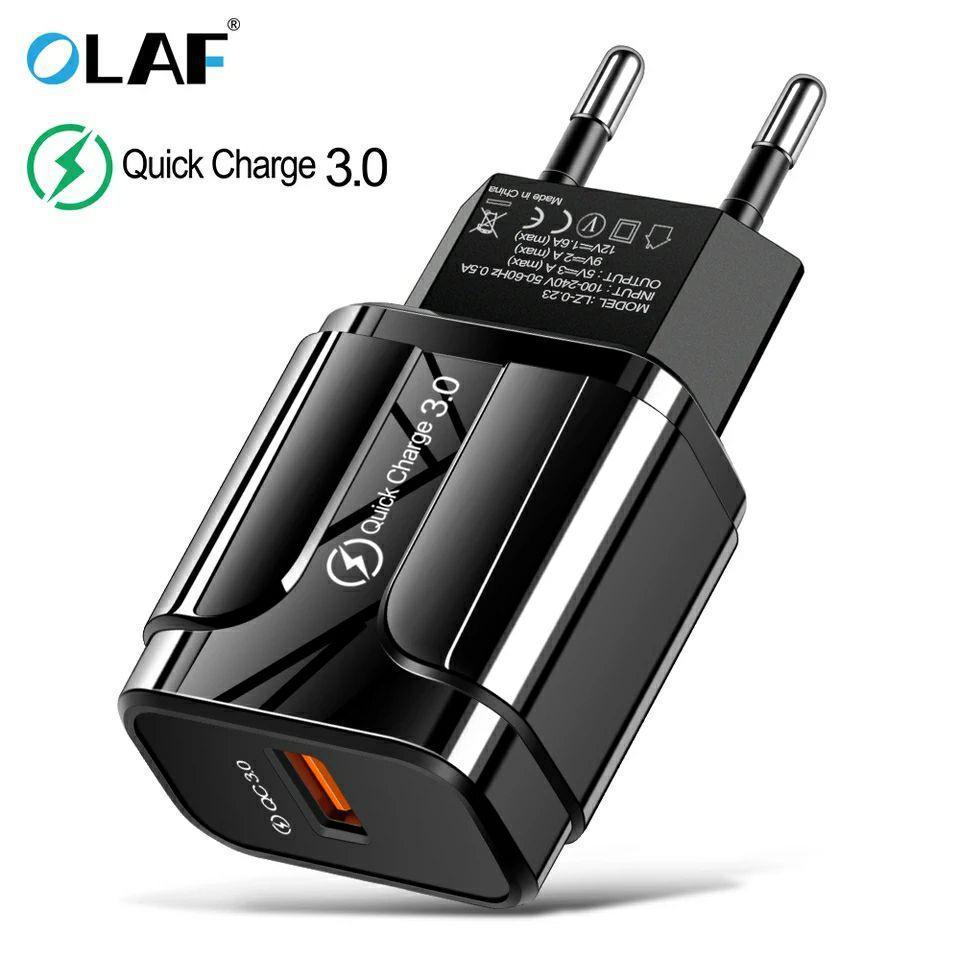 Быстрая зарядка OLAF Qualcomm QC 3.0 18 Вт быстрое зарядное устройство для мобильного телефона