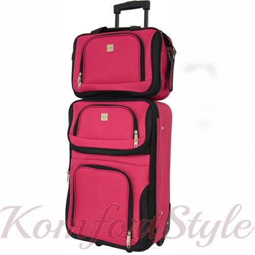 Комплект чемодан и сумка Bonro Best средний вишневый (10080600)