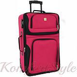 Комплект чемодан и сумка Bonro Best средний вишневый (10080600), фото 2
