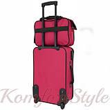 Комплект чемодан и сумка Bonro Best средний вишневый (10080600), фото 8