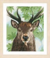 """Набор для вышивки крестом LanArte Proud red deer """"Олень"""""""