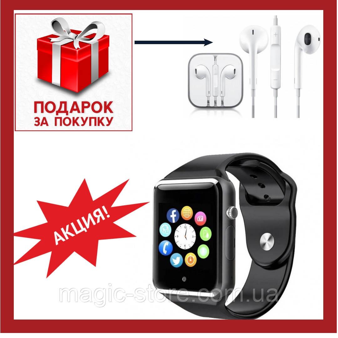 Cмарт часы телефон Smart Watch A1 черный умные часы А1 (Black)