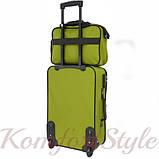 Комплект чемодан и сумка Bonro Best средний зеленый (10080601), фото 5