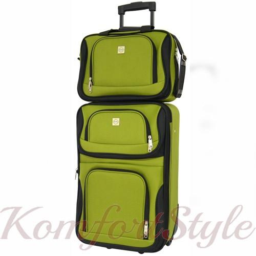 Комплект чемодан и сумка Bonro Best средний зеленый (10080601)