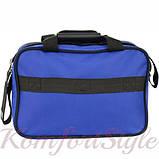 Комплект чемодан и сумка Bonro Best средний синий (10080602), фото 7
