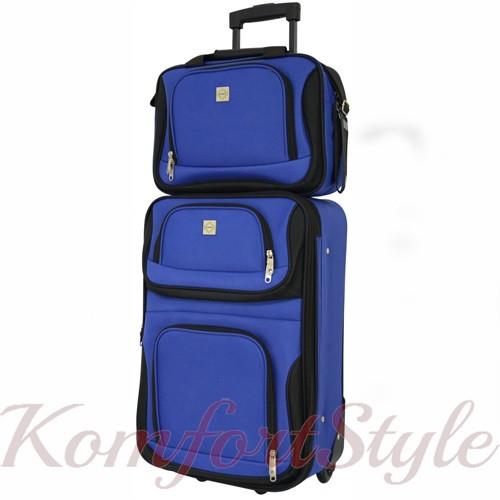 Комплект чемодан и сумка Bonro Best средний синий (10080602)