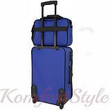 Комплект чемодан и сумка Bonro Best средний синий (10080602), фото 5