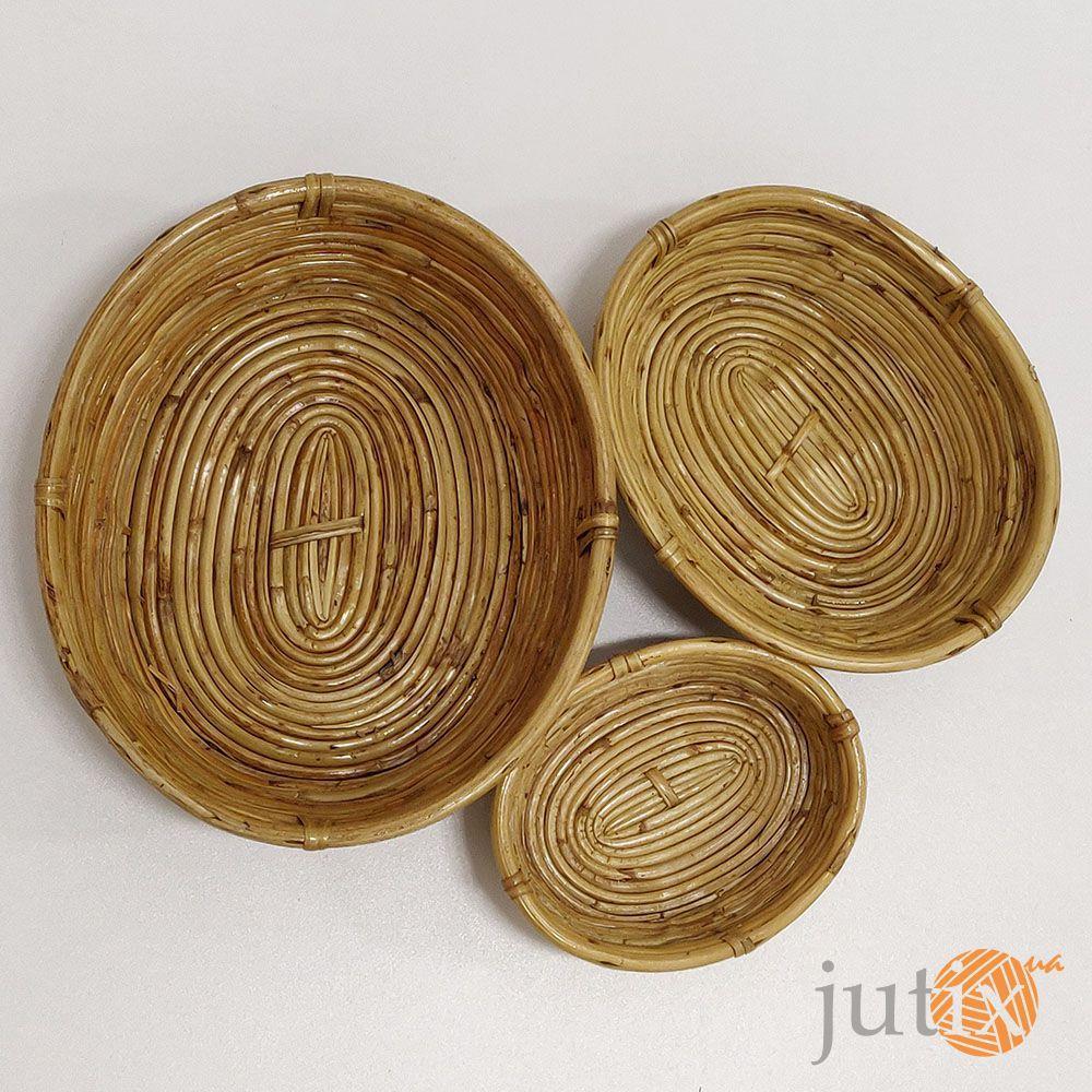 Лоток овальный бамбуковый