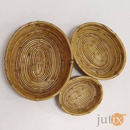 Лоток овальный бамбуковый, фото 2
