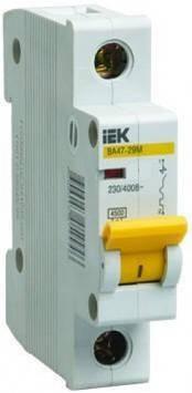 Автоматический выключатель однополюсный ВА47-29 1P 25A 4,5кА C IEK