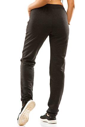 Женские спортивные штаны 5714  антрацит, фото 2