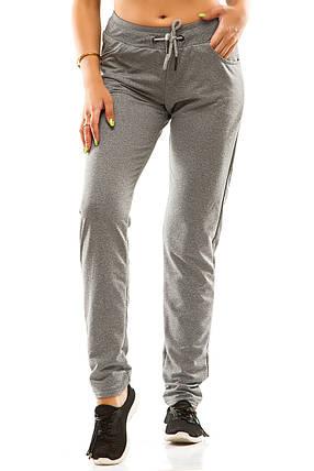Женские спортивные штаны 5714  темно-серые, фото 2