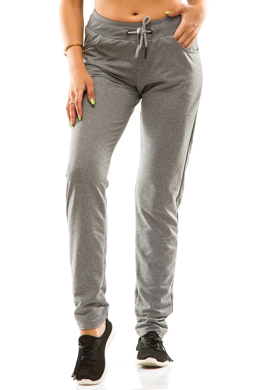 Женские спортивные штаны 5714  темно-серые