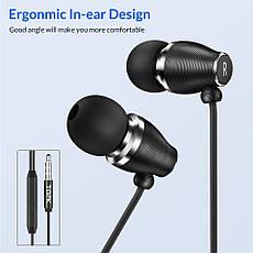 TOPK F07 спортивные стерео наушники проводные со встроенным микрофоном Black, фото 2