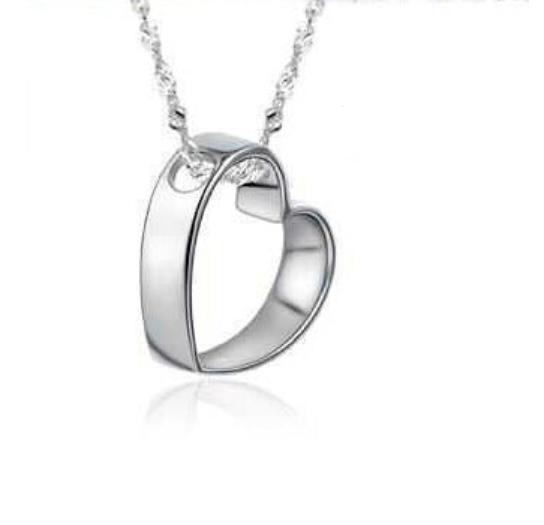 Серебряный кулон Сердечко стерлинговое серебро 925 проба кулончик