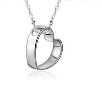 Серебряный кулон Сердечко стерлинговое серебро 925 проба кулончик, фото 1