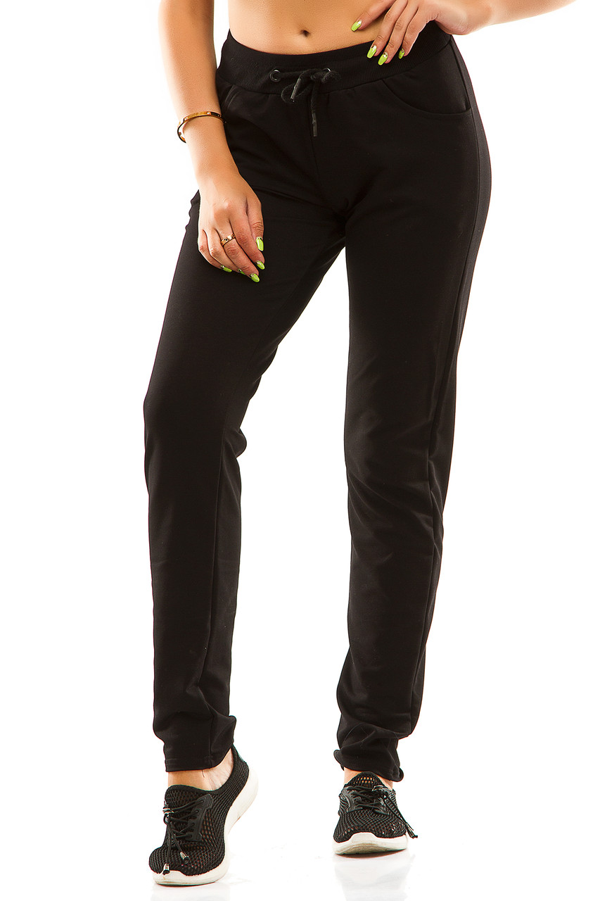 Женские спортивные штаны 5714  черные