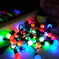 Светодиодная гирлянда Шары 5м, 40 LED, Мультиколор, шарик диам.2.6см, фото 1
