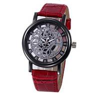 Cтильные модные оригинальные женские часы Geneva скелетон