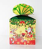 """Новогодняя картонная упаковка для  конфет """"Куб с бантом """" 800 г., фото 3"""