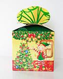 """Новогодняя картонная упаковка для  конфет """"Куб с бантом """" 800 г., фото 5"""
