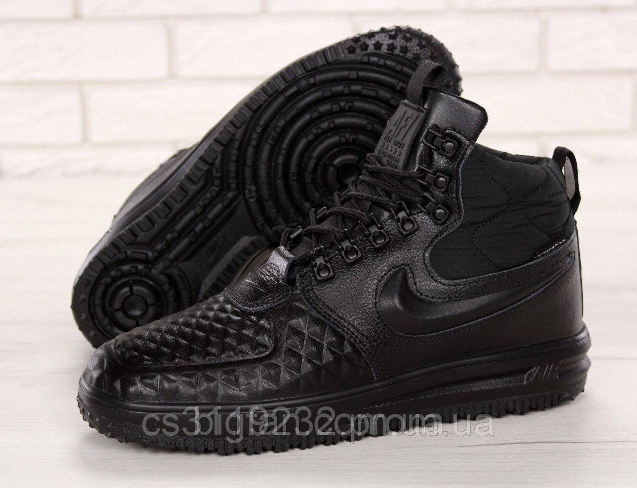 Мужские кроссовки Nike Lunar Force 1 Duckboot 17 (черные)