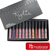 Набор помад Кайли Kylie Jenner Matte Liquid Lipstick Black Edition 12 шт