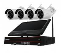 Товары оптом и в розницу Набор камер видеонаблюдения WIFI Kit 4CH + LCD дисплей