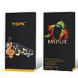 TOPK CT8 спортивні стерео дротові навушники з вбудованим мікрофоном Black, фото 2