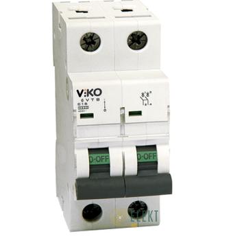 Автоматический выключатель двухполюсный   Viko, 2P, C, 16A, 4,5kA