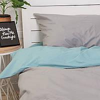 Комплект постельного белья Хлопковые Традиции Полуторный 155x215 Серо-голубой PF040полуторный, КОД: 740710