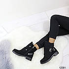 Женские демисезонные ботинки черного цвета, из эко замши 37 40 ПОСЛЕДНИЕ РАЗМЕРЫ, фото 2