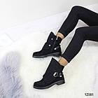 Женские демисезонные ботинки черного цвета, из эко замши 37 40 ПОСЛЕДНИЕ РАЗМЕРЫ, фото 3