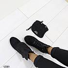 Женские демисезонные ботинки черного цвета, из эко замши 37 40 ПОСЛЕДНИЕ РАЗМЕРЫ, фото 5