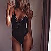 Комбидресс - боди на шнуровке Flouer эротический купальник кружевной комбидресс, фото 4