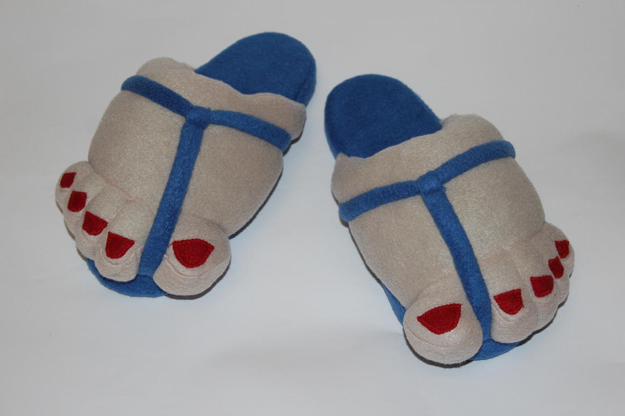 Женские тапочки - игрушки Ноги в сандалях Размер 34 - 45