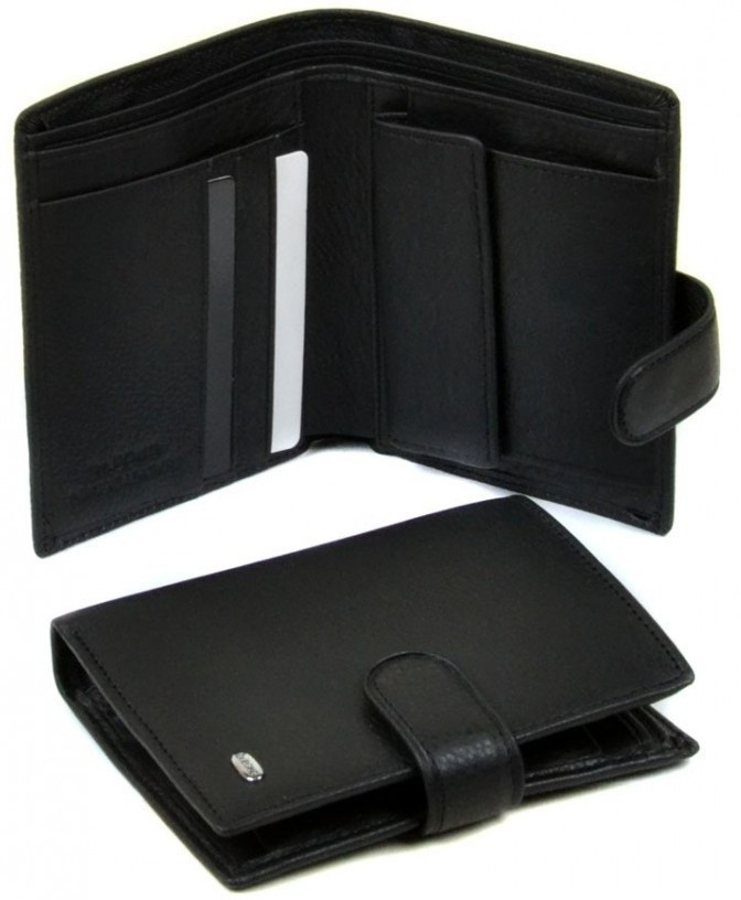 Мужской кожаный кошелек правник Dr. Bond натуральная кожа