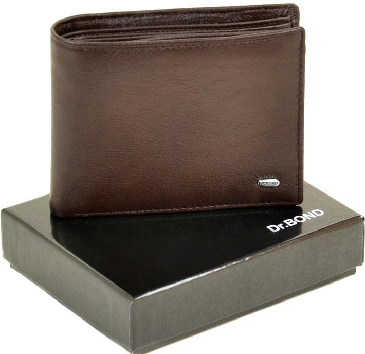 Мужской кожаный кошелек Dr.Bond на магните