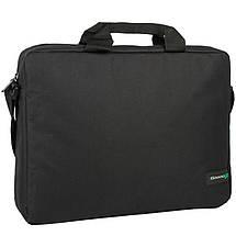 """Сумка для ноутбука 15.6"""" Grand-X SB-115, черная, ремень на плечо, 39 x 28,5 x 6 см, фото 2"""